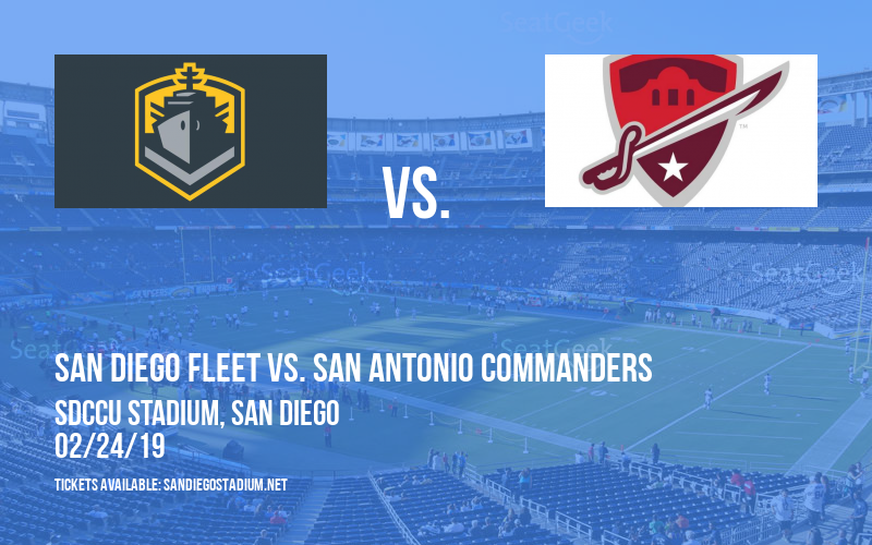 San Diego Fleet vs. San Antonio Commanders at SDCCU Stadium