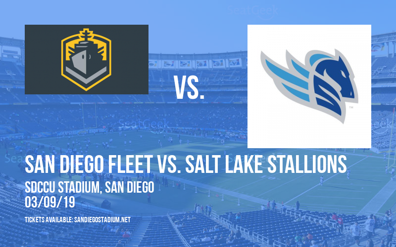 San Diego Fleet vs. Salt Lake Stallions at SDCCU Stadium