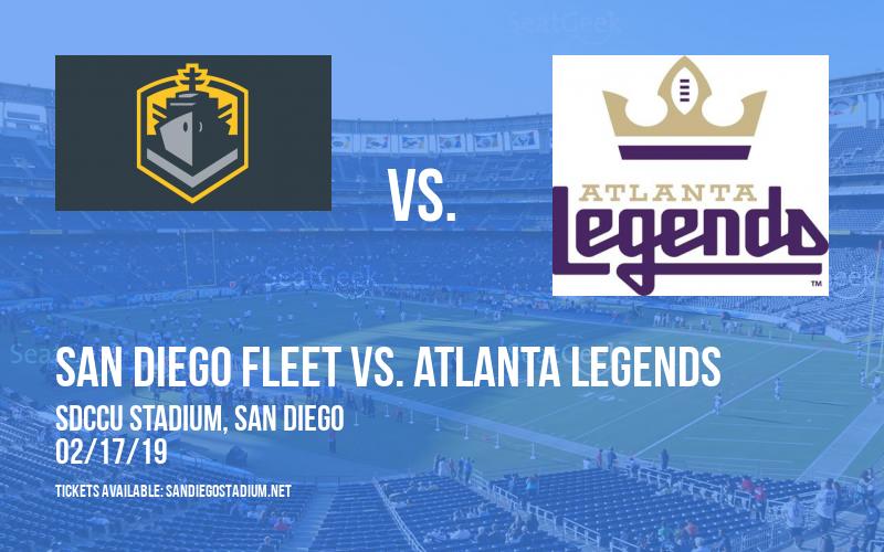 San Diego Fleet vs. Atlanta Legends at SDCCU Stadium