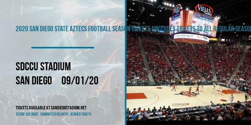 2020 San Diego State Aztecs Football Season Tickets (Includes Tickets To All Regular Season Home Games) at SDCCU Stadium